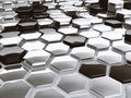 Modern abstract 3D architectural design hexagonal pattern Royalty Free Stock Photo