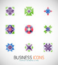 Modern abstract geometric business icons icon set this is file of eps format Royalty Free Stock Photo