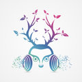Modern abstract headphones. Music symbol. Vector Royalty Free Stock Photo