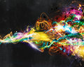 Modern abstract motion banner on dark background Royalty Free Stock Photo