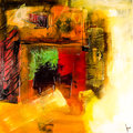 Modern abstract painting fine art artprint decoration Royalty Free Stock Images