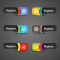 Modern abstract register icon header. Stock Images