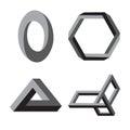 Modern abstract vector logo or element design.