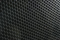 Modern acoustic systems. Metal grating on the sound dynamics. Royalty Free Stock Photo