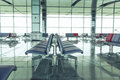 Modern Airport Lounge Seat Rows Royalty Free Stock Photo