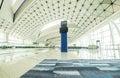 Modern airport terminal interior Royalty Free Stock Photo