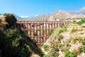Modern akviduk near village of nerja province of granada spain aqueduct Stock Images
