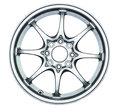 Modern alloy whee wheel on the white background Royalty Free Stock Photo