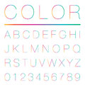 Modern alphabet uppercase vector eps Stock Photography