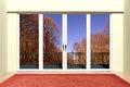 Modern aluminum window Royalty Free Stock Photo