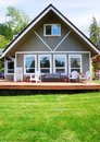 Modern American farm cottage house Royalty Free Stock Photo
