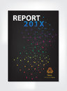 Modern Annual report Cover design vector geometric spectrum Royalty Free Stock Photo