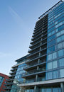 The modern apartment block in Royal Victoria docks Royalty Free Stock Photo