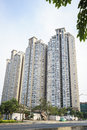 Modern apartment building in Vietnam Royalty Free Stock Photo