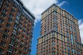 Modern apartment buildings in new york city Stock Photos