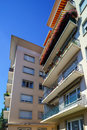 Modern apartments building in small french city Royalty Free Stock Photo