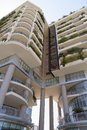 Modern appartments image taken of a apartment building in the financial district of bari italy Royalty Free Stock Photo