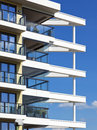 Modern architecture at bremerhaven contemporary apartment building Stock Photo