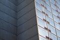 Building corner concrete glass windows modern architecture skyscraper Royalty Free Stock Photo