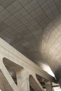 Modern architecture curves and concrete panels Stock Photo