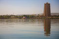Modern architecture in front of the Niger River in Bamako Royalty Free Stock Photo
