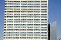 Modern architecture hotel fragment construction Stock Image