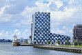 Modern architecture in port of rotterdam holland aug stc college building on aug a remarkable designed building houses the Stock Image