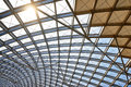 Modern architecture roof structure construction site Royalty Free Stock Photo