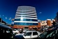Modern architecture in turkey business center with parking Royalty Free Stock Photography