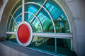 Modern architecture windows and glass adorn the convention center in san diego california Stock Photography