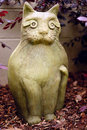 Modern art cat sculpture on guard Royalty Free Stock Photo