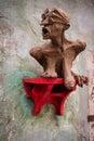 Modern art in Krumlov, Czech republic Royalty Free Stock Photo