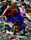 Modern art money abstract in vivid hues Stock Photography
