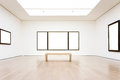 Modern Art Museum Frame Wall Clipping Path Isolated White Vector Royalty Free Stock Photo