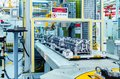 Automobile production line Royalty Free Stock Photo