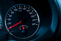 Modern automotive speedometer on black Stock Image