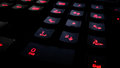 Modern back-lit gaming computer keyboard Royalty Free Stock Photo