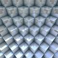 Modern background d blueish organized cubes render Royalty Free Stock Photos