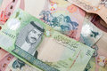 Modern bahrain dinars banknotes background closeup Royalty Free Stock Images