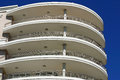 Modern balconies the view of curved on a building Royalty Free Stock Photo