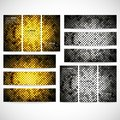 Modern banners abstract banner design business golden dots background vector and website templates vector Stock Images