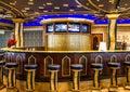 Modern bar interior cruise liner costa mediterranea Stock Photos