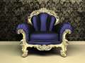 Modern Baroque armchair with decorative frame Royalty Free Stock Photography