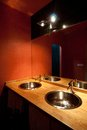 Modern bathroom detail of colorful Stock Photos