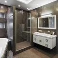 Modern bathroom interior of new Royalty Free Stock Images