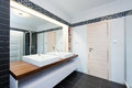 Modern bathroom interior of with shower Royalty Free Stock Photography