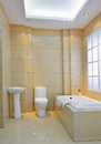 Modern bathroom luxurious with decoration Stock Image