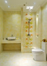 Modern bathroom with shower room toilet and basin Stock Image