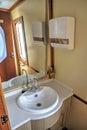 Modern bathroom in a touristic train