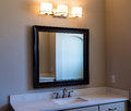 Modern Bathroom Vanity Mirror and Lights Royalty Free Stock Photo